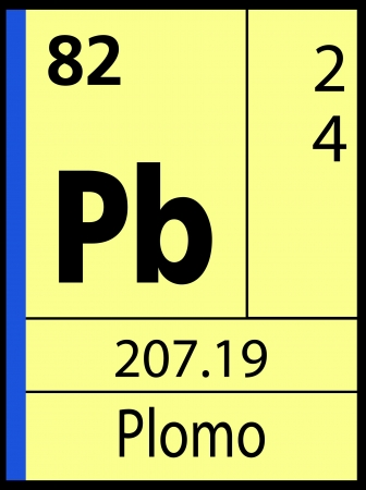 Plomo, periodic table Vector