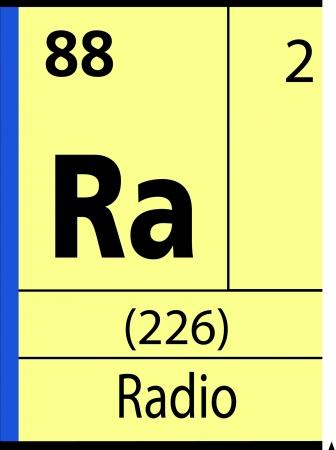 graphic flerovium: Radio, periodic table Illustration