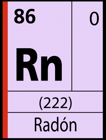 Radon, periodic table Vector