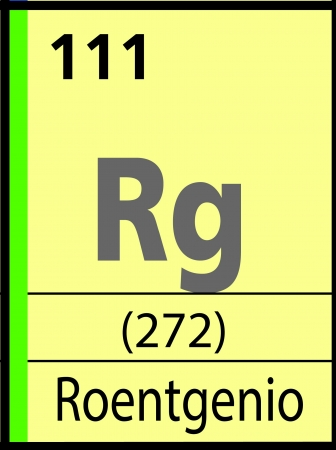 graphic flerovium: Roentgenio, periodic table Illustration