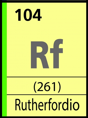 Rutherfordio, periodic table Vector