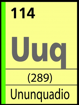 Ununquadio, periodic table