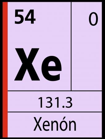 xenon: Xenon, tabla peri�dica Vectores