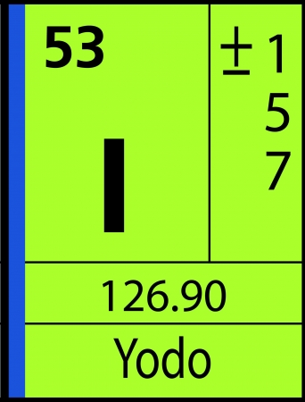 Yodo, periodic table Ilustração