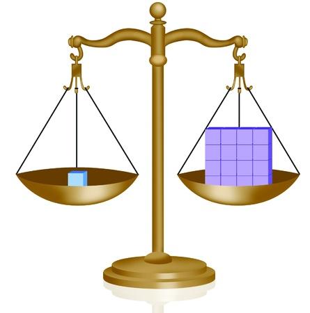 Balance scales illustration Illustration