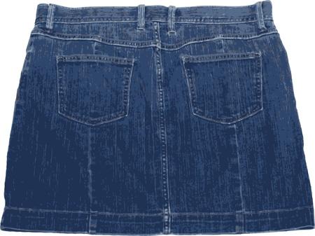 Illustration of a sexy mini skirt