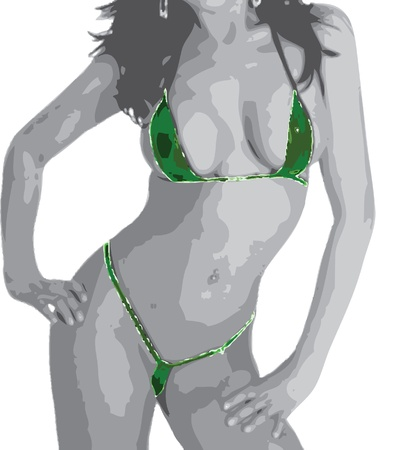 Sexy Girl in green Bikini