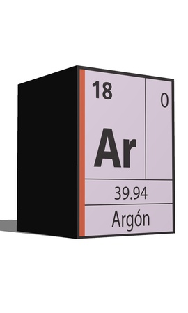 argon: Argon, Periodic table of the elements Illustration