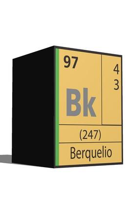 Berquelio, Periodic table of the elements