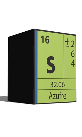 Azufre, Periodic table of the elements Vector