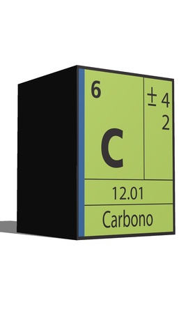 Carbono, Periodic table of the elements Vector