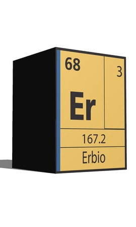 Erbio, Periodic table of the elements Vector