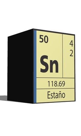 Estano, Periodic table of the elements Illustration