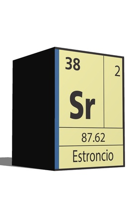 Estroncio, Periodic table of the elements Vector