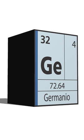 lanthanides: Germanio, Periodic table of the elements Illustration
