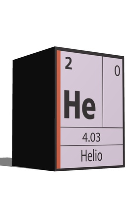 actinides: Helio, Periodic table of the elements Illustration