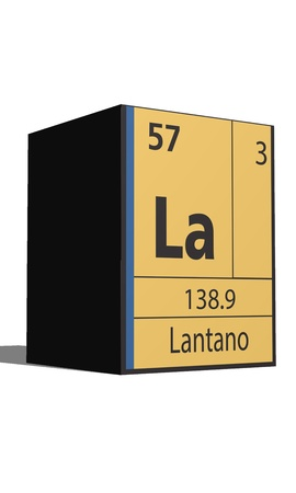 actinides: Lantano, Periodic table of the elements Illustration