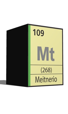 Meitnerio, Periodic table of the elements Vector