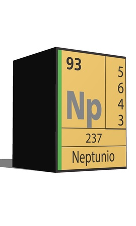 lanthanides: Neptuno, Periodic table of the elements Illustration