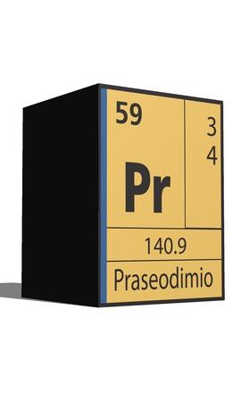 actinides: Praseodimio, Periodic table of the elements