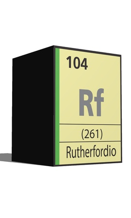 lanthanides: Rutherfordio, Periodic table of the elements Illustration