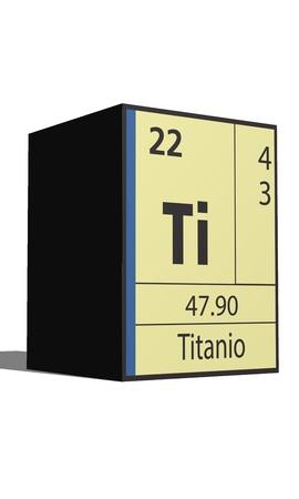 lanthanides: Titanio, Periodic table of the elements Illustration
