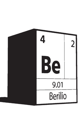 Berlio, line art element of periodic table Vector