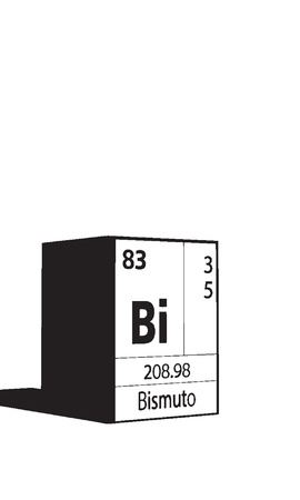lanthanides: Bismuto, line art element of periodic table