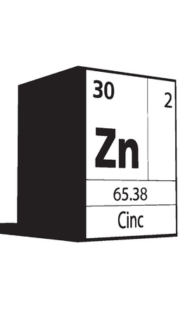 lanthanides: Cinc, line art element of periodic table
