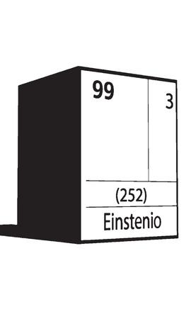 lanthanides: Einstenio, line art element of periodic table Illustration