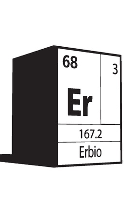 Erbio, line art element of periodic table Vector