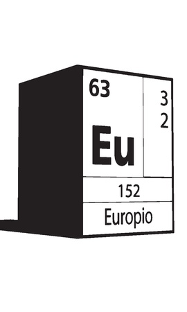 actinides: Europio, line art element of periodic table
