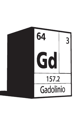 Gadolinio, line art element of periodic table Vector