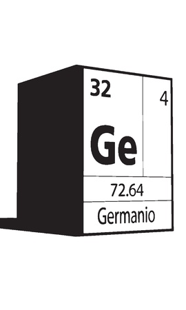 Germanio, line art element of periodic table Vector