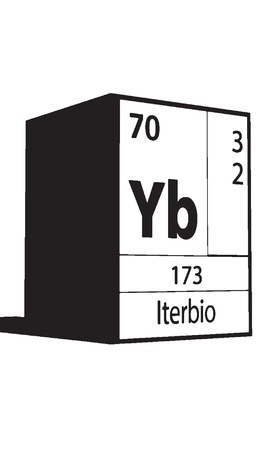Iterbio, line art element of periodic table Vector