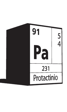 lanthanides: Protactinio, line art element of periodic table