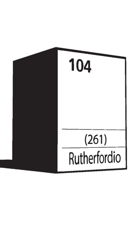 lanthanides: Ruterfordio, line art element of periodic table