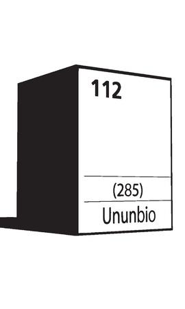 lanthanides: Unubio, line art element of periodic table