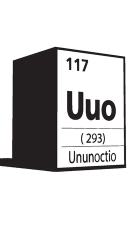 Unnunnoctio, line art element of periodic table Vector