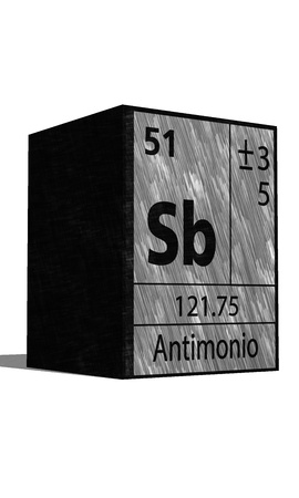 neutrons: Sb Chemical element of the periodic table with symbol