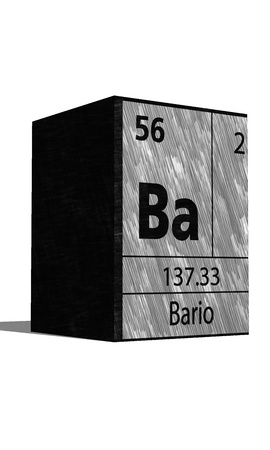 protons: Ba Chemical element of the periodic table with symbol