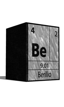 substances: Be Chemical element of the periodic table with symbol Illustration