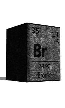 protons: Br Chemical element of the periodic table with symbol