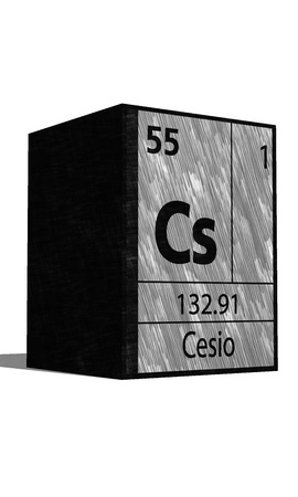 neutrons: Cs Chemical element of the periodic table with symbol