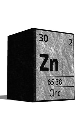 protons: Zn Chemical element of the periodic table with symbol