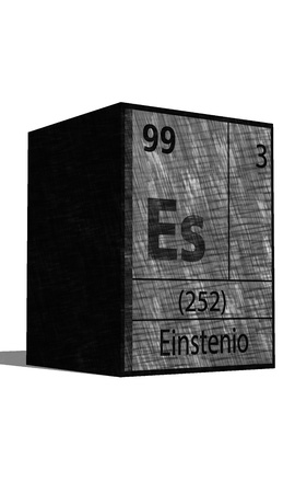 dissolved: Es Chemical element of the periodic table with symbol Illustration