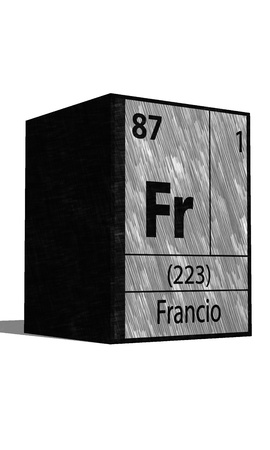 protons: Fr Chemical element of the periodic table with symbol