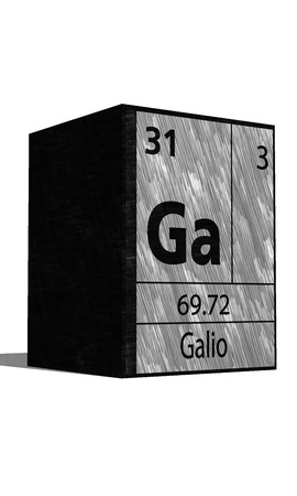 isotopes: Ga Chemical element of the periodic table with symbol Illustration