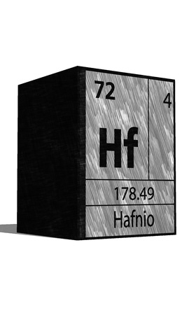 hf: Hf Chemical element of the periodic table with symbol
