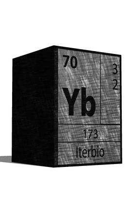 substances: Yb Chemical element of the periodic table with symbol Illustration